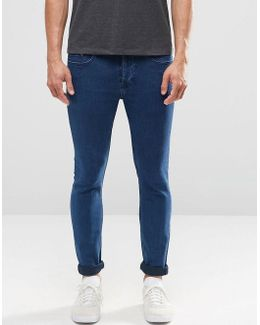 Jeans In Skinny Fit Blue Denim With Stretch