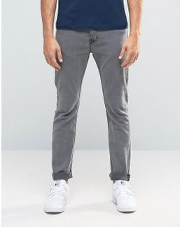 Jeans In Skinny Fit Gray Denim With Stretch
