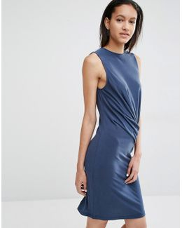 Carey Bodycon Dress With Drape