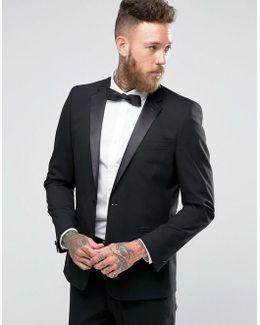 Slim Tuxedo Suit Jacket In Black