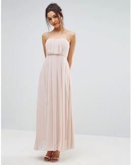 Chiffon Strapless Maxi Dress