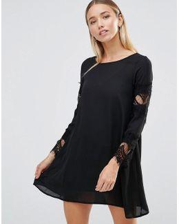 Lace Detail Swing Dress