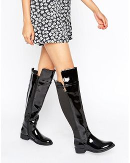 By Dune Tamara Flat Over The Knee Boots
