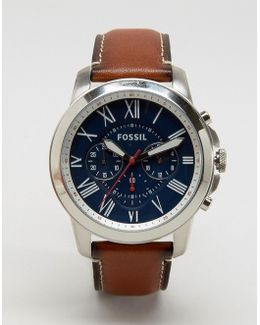 Grant Fs5210 Leather Watch In Tan