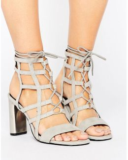 Helen Caged Detail Heeled Sandals