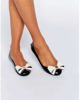 Julivia Bow Black Ballet Flat Shoes