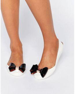 Julivia Bow Cream Ballet Flat Shoes