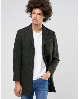 Wool Overcoat With Fleck Detail