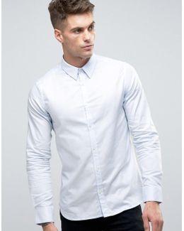 Semi Plain Birdseye Slim Fit Shirt