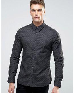 Dark Floral Slim Fit Shirt