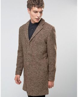 Overcoat In Boucle In Camel