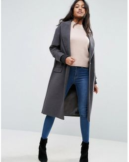 Coat With Cuffed Detail