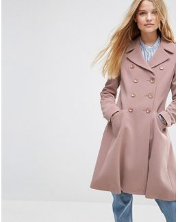 Double Breasted Skater Coat