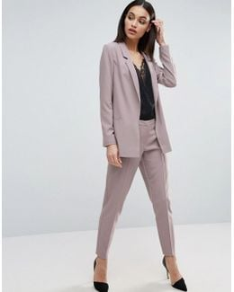 Ankle Grazer Cigarette Trousers In Crepe