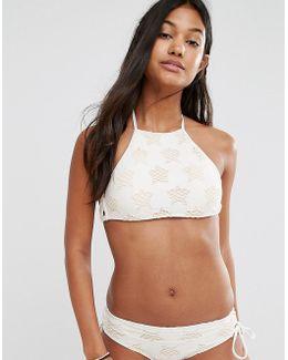 Star High Neck Bikini Top