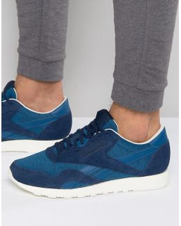 Classic Nylon Trainers In Blue Ar0896