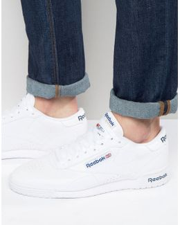 Ex-o-fit Leather Trainers In White Ar3169