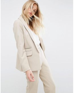 Tailored Edge To Edge Blazer