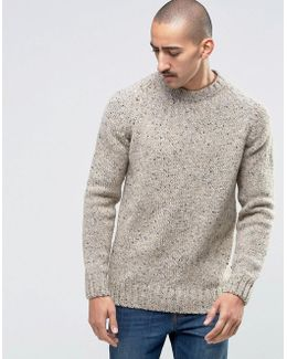 Jumper In Donegal Wool In Sand