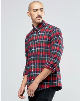 Shirt In Castlebay Check Tailored Slim Fit Red