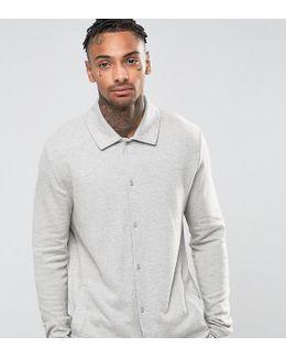 Pyjama Shirt In Brushed Woven Texture