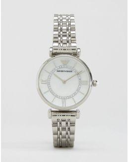 Silver Gianni T Bar Watch Ar1908