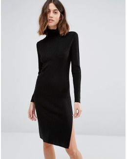 Long Sleeve Rollneck Dress