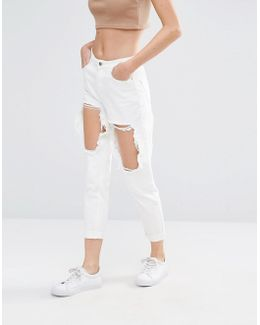 Riot Open Thigh Slim Leg Jeans