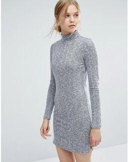 High Neck Bodycon Dress