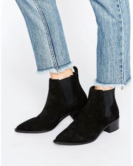 Agave Black Suede Chelsea Boots