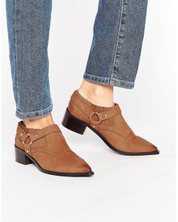 Firecracker Tan Leather Western Shoe Boots