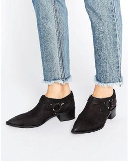 Firecracker Black Leather Western Shoe Boots