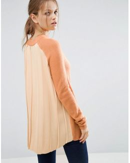 Jumper With Pleated Back Detail