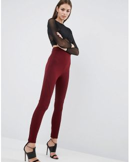 Leggings With Rib Panels