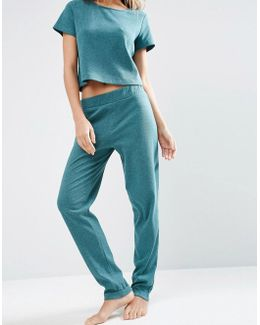 Lounge Ribbed Relaxed Jogger