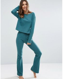 Lounge Ribbed Skinny Flare