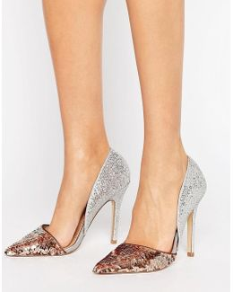 Andi Metallic Two Part Heeled Shoes