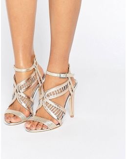 Fox Metallic Heeled Sandals
