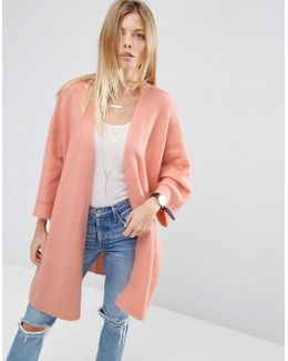 Cardigan In Oversized Shape