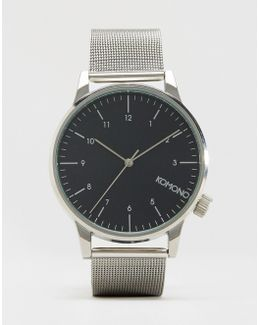 Winston Royale Mesh Watch In Silver
