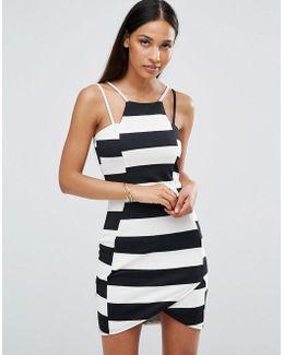 Striped Textured Mini Dress