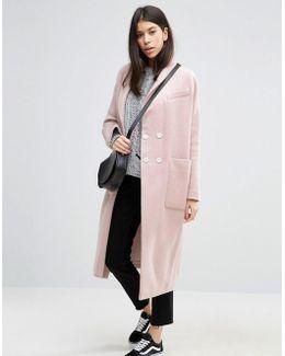 Swing Coat In Wool Mix