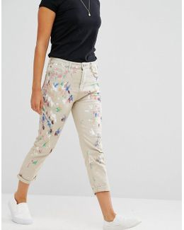 Johnny Hand Painted Boyfriend Jeans