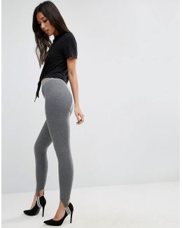 Stirrup Leggings With Tipping