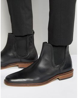 Chelsea Boots In Black Leather