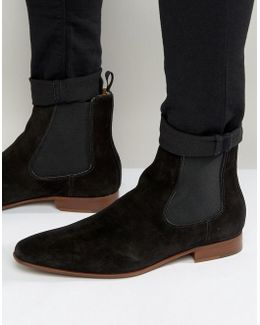 Biondi Suede Chelsea Boots