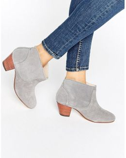 Kiver Slate Suede Mid Ankle Boots