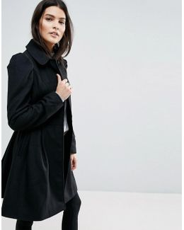 Skater Coat With Statement Sleeve