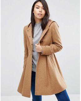 Swing Duffle Coat With Hood