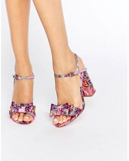 Holborn Bow Heeled Sandals